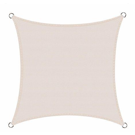 Toldo Vela de Sombra Cuadrado 2.5 x 2.5 Metros protección Rayos UV, Resistente y Transpirable