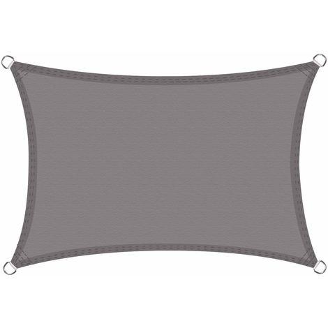 Toldo Vela de Sombra Impermeable Rectángulo 2 x 3 Metros protección UV