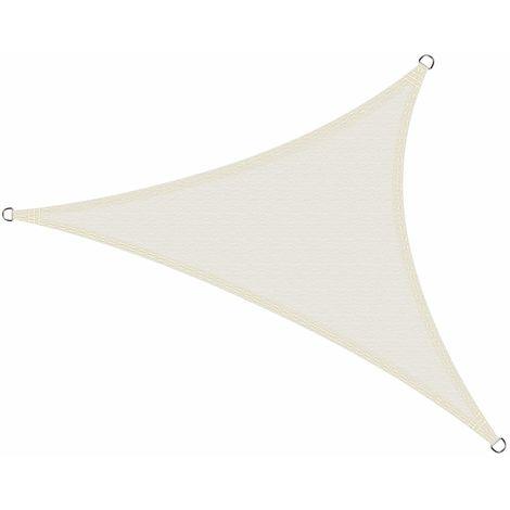 Toldo Vela de Sombra Impermeable Triángulo 4 x 4 x 4 Metros protección UV