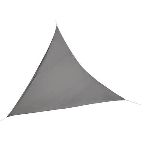 Toldo vela de sombra para jardín - 3,6 x 3,6 x 3,6 m - Topo / Gris