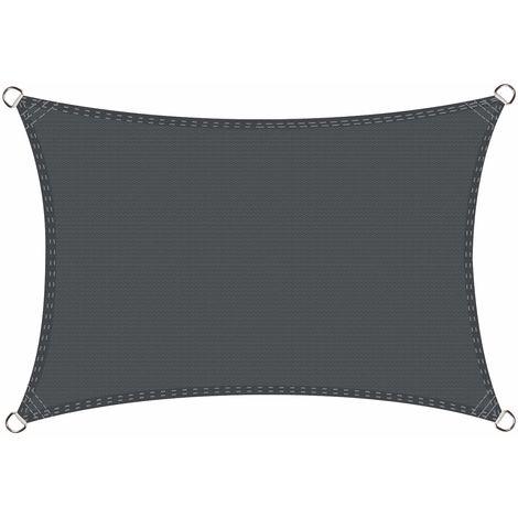 Toldo Vela de Sombra Rectangular 2.5 x 4 Metros protección Rayos UV, Resistente y Transpirable