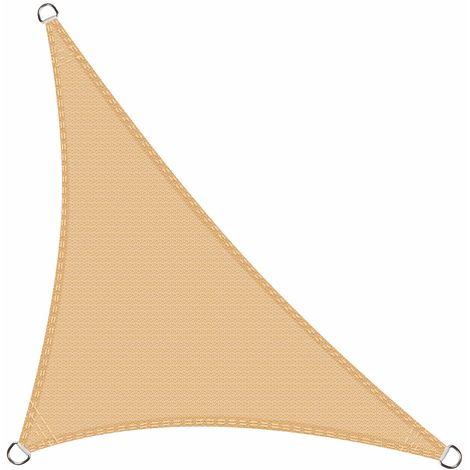Toldo Vela de Sombra Triangular 3 x 3 x 4.2 Metros protección Rayos UV, Resistente y Transpirable