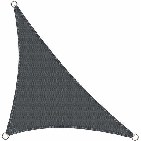 Toldo Vela de Sombra triángulo rectángulo 5 x 5 x 7 Metros protección Rayos UV, Resistente y Transpirable