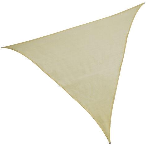 Toldo vela triangular beige polietileno de 3 metros