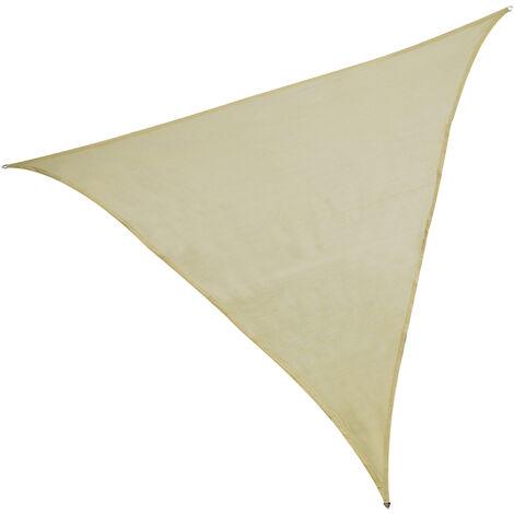 Toldo vela triangular beige polietileno de 5 metros