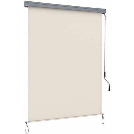 Toldo Vertical Multifuncional Estor Enrollable Protección de Privacidad Resistente a Sol para Hogar Oficina Terraza Patio (Beige, 1,4x2,5m)
