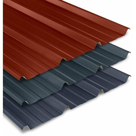 Tôle bac acier 0.50 mm couverture métallique 2100x1000 mm AXEL LIGHT®