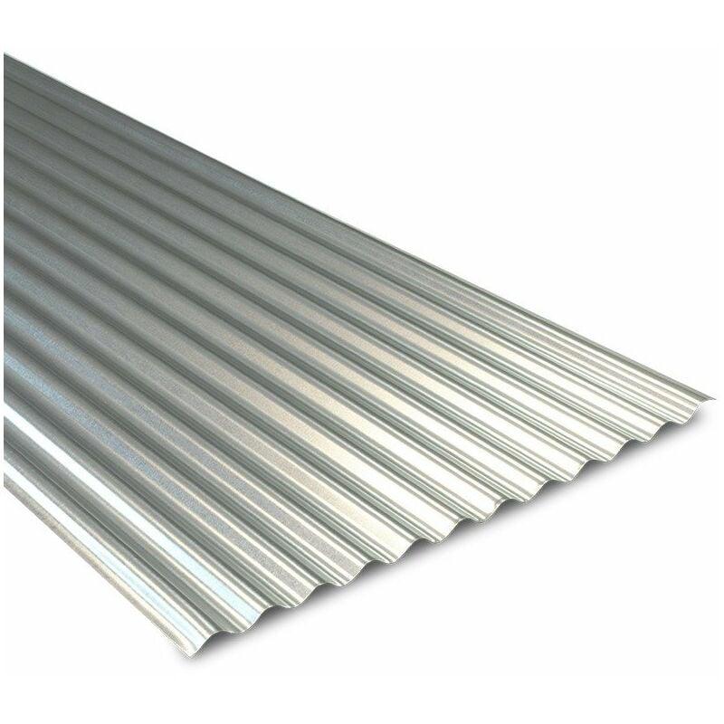Tôle ondulée galvanisée pour couverture métallique 2100x900 mm BOTAN® - WL12022