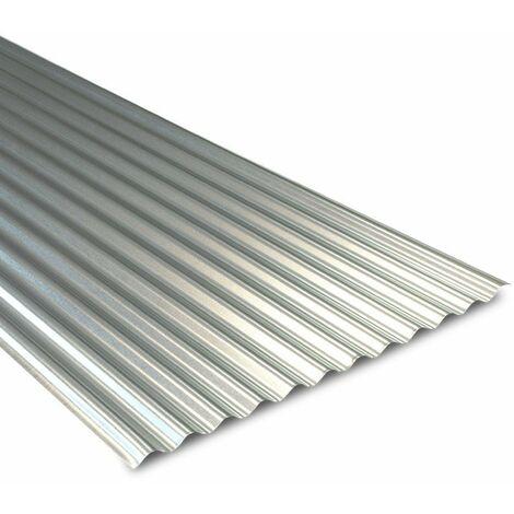 Tôle ondulée galvanisée pour couverture métallique 2100x900 mm BOTAN®