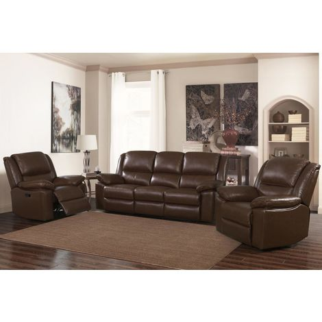 Toledo Recliner Leather & PVC 1 Seater