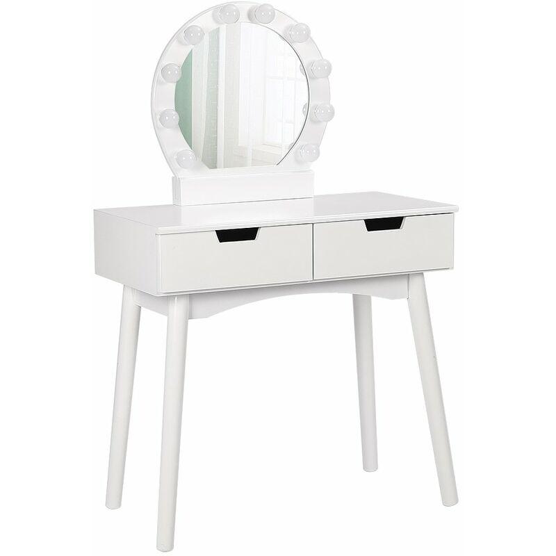 Tiptiper tavolo da trucco con 10 lampadine a LED tavolo da toeletta con specchio ovale e sgabello bambini e donne tavolo da trucco per ragazze