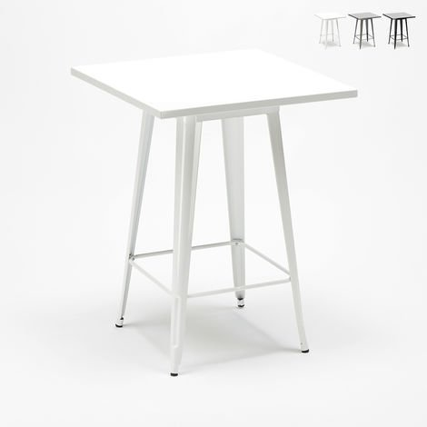 Tolix Industrial Style High Table for Stools Metal Steel 60x60 NUT
