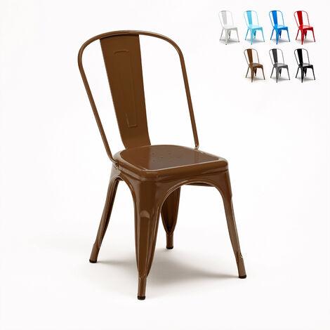 Tolix sillas industriales metal acero para cocinas y bares Steel One