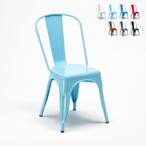 Tolix Steel Metal Industrial Chair for Kitchen Bar Restaurant STEEL ONE