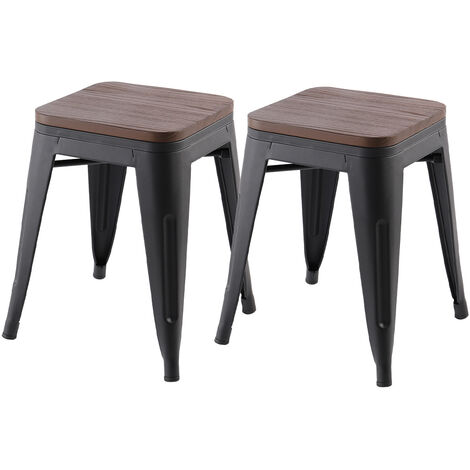 Tolix Style Metal Pub High Chairs Bar Stool Breakfast Stools Set Cafe Commercial