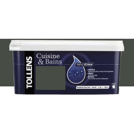"""TOLLENS Peinture acrylique """"Cuisine & Bains Triple Ecran"""" 1,5L Bois brûlé - 1,5 L"""