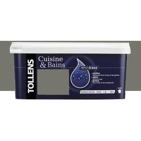 """TOLLENS Peinture acrylique """"Cuisine & Bains Triple Ecran"""" 1,5L Pierre de lave - 1,5 L"""
