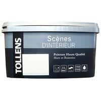 """TOLLENS Peinture acrylique """"Scènes d'intérieur"""" Satin Blanc - 2,4L"""
