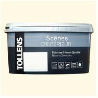"""TOLLENS Peinture acrylique """"Scènes d'intérieur"""" Satin Blanc cassé - 2,4L"""