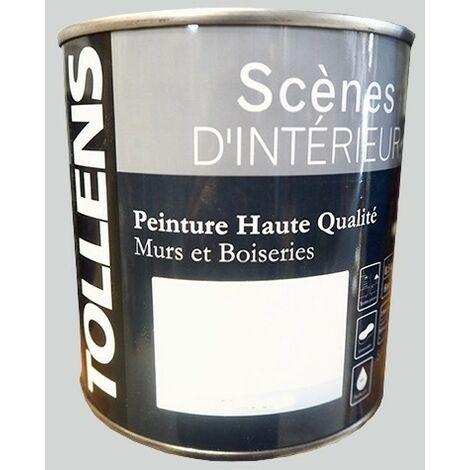TOLLENS Peinture acrylique 'Scènes d'intérieur' Satin Gris perle 1L - Gris perle