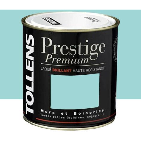 TOLLENS Peinture Prestige Premium Laqué Brillant Bleu arctique 0,5 L - Bleu arctique