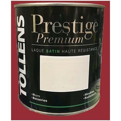 TOLLENS Peinture Prestige Premium Satin Laqué Lie de vin 0,5 L - Lie de vin