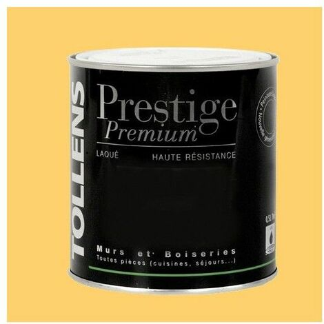 TOLLENS Peinture Prestige Premium Satin Laqué Pêche Blanche - 0,5 L
