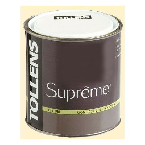TOLLENS Peinture Suprême Vanille Satin - 0,5 L
