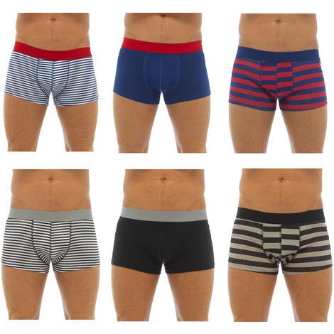 Tom Franks Mens Cotton Hipster Boxer Short Trunk (Pack of 6)