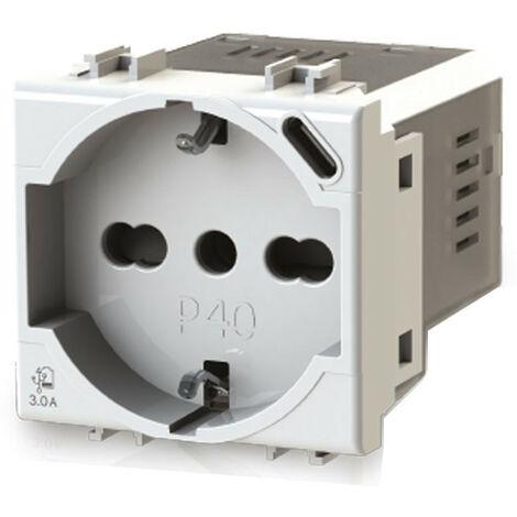 Toma de corriente de Derivación y Schuko 4Box P40 con USB 3.0 PARA Bticino Matix 4B.AM.P40.USB
