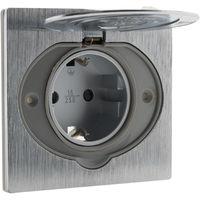 Toma de corriente IP44 para suelo (schuko) extraplana