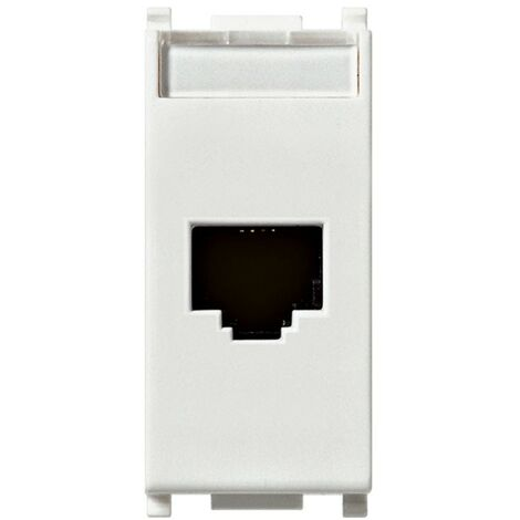 Toma de corriente, Vimar Plana de datos RJ45 CAT6 UTP color blanco 14339.6