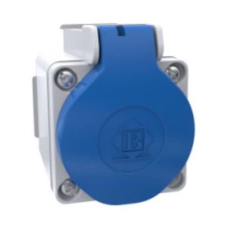 Toma de enchufe schuko 16A 2P-T con caja superficie IP-44
