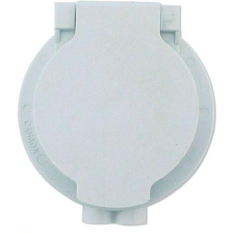 Toma de Servicio Blanca PVC con Contacto Eléctrico Aspiración Centralizada