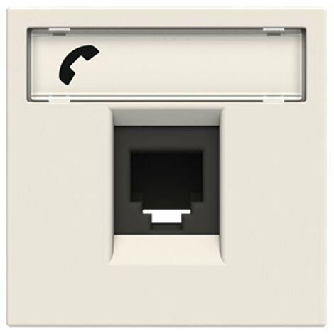 Toma de telefono 6 contactos Niessen N2217.6 BL serie Zenit color Blanco