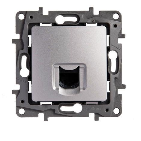 Toma informatica RJ45 cat6 Legrand NILOE 665373 Aluminio