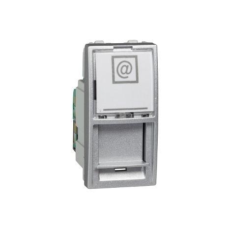 Toma RJ45 cat.5e UTP 1 mod Unica Alumin SCHNEIDER ELECTRIC MGU3.410.30
