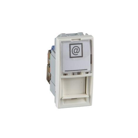 Toma RJ45 cat.5e UTP 1 mod. Unica Marfil SCHNEIDER ELECTRIC MGU3.410.25