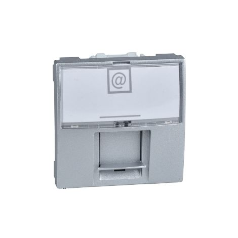 Toma RJ45 cat.5e UTP 2 mod Unica Alumin SCHNEIDER ELECTRIC MGU3.411.30