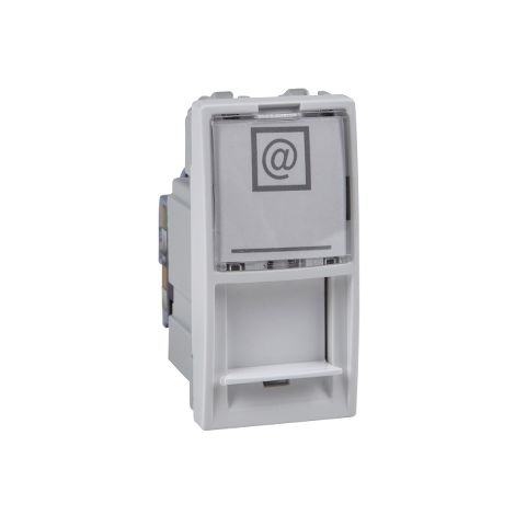 Toma RJ45 cat.6 UTP 1 mod. Unica Polar SCHNEIDER ELECTRIC MGU3.414.18