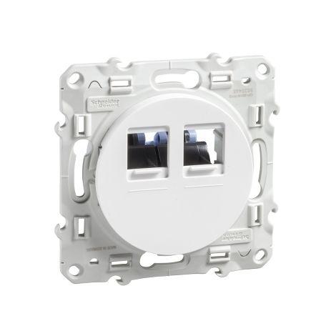 Toma RJ45 doble categoria 6 UTP Blanco SCHNEIDER ELECTRIC S520485