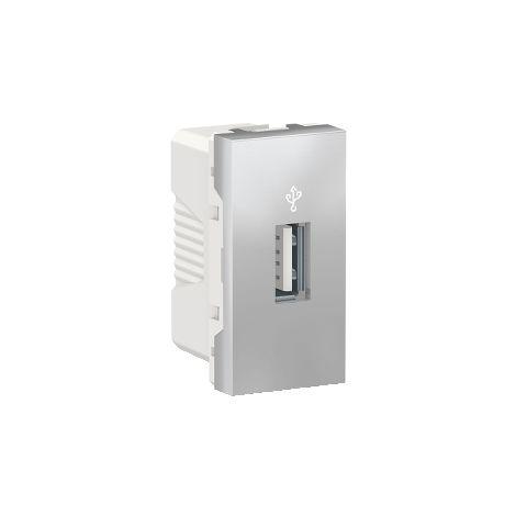 Toma USB 3.0 1 mod. Aluminio SCHNEIDER ELECTRIC NU342930