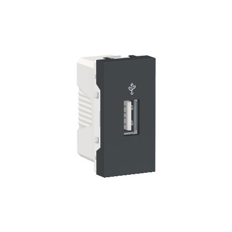 Toma USB 3.0 1 mod. Antracita SCHNEIDER ELECTRIC NU342954