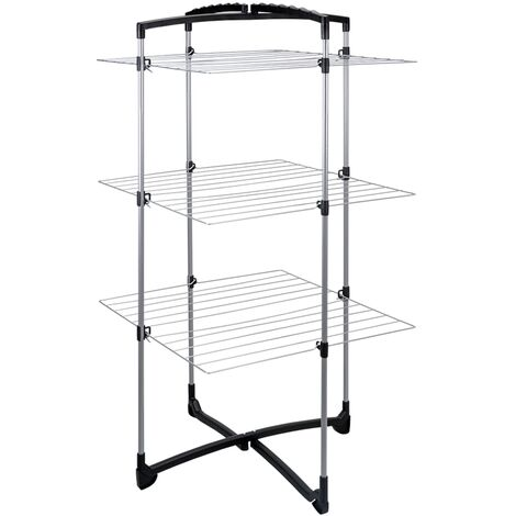 Tomado Laundry Drying Rack Fortino 3 25 m - Silver