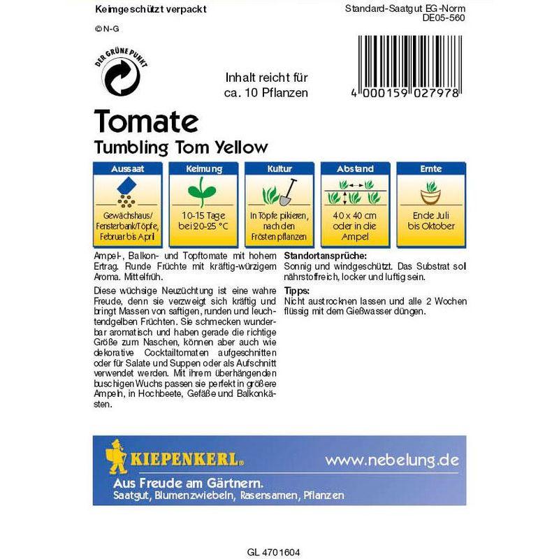 Tomaten Ampeltomaten Hängetomate Tumbling Tom Yellow gelb