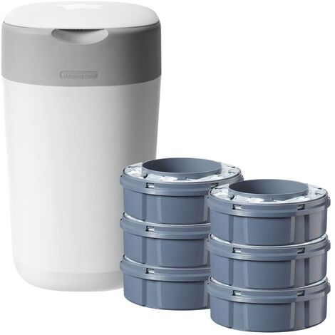 Tommee Tippee Nappy Bin Twist & click with 6 Cassettes