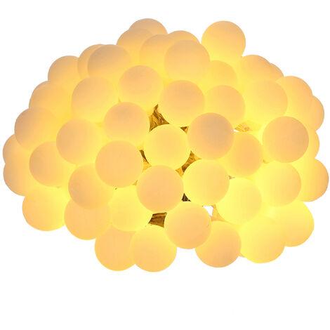 Tomshine 0.6W 10m / 32.8ft 80LEDs bateria alimentepar IP44 sellado con calor a distancia guirnalda luz blanca