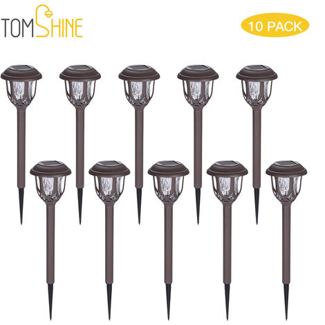 Tomshine 10 Pack Solar Powered Lawn Lights LED Water Ripple Garden Lamp IP44 Water-resistant