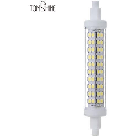 Tomshine, 10W R7S 118mm 100W Bombilla halogena equivalente AC100-265V 1100LM 120 LED 2835SMD luz del maiz de 360 ??grado angulo del haz de ahorro de energia Clase A + de la lampara para no regulables para la luz de inundacion, blanca