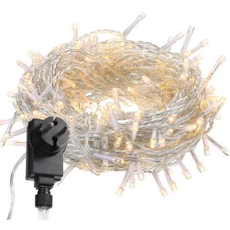 Tomshine 200LEDs String Light 6w 23 meters/75.5 ft IP44 Water Resistance Eight Lighting Effects